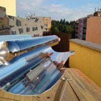 Slanina s vajíčky se solárním vařičem GoSun Sport