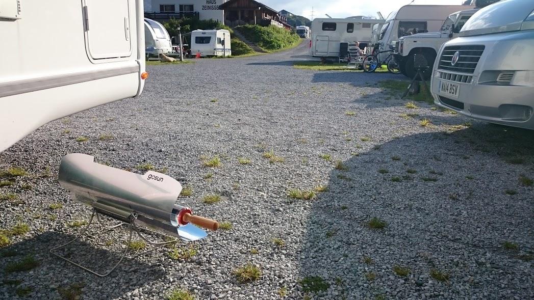 Obytné vozy a solární vařič